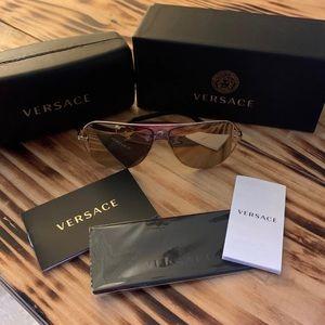 Versace Gold Mirrored Sunglasses